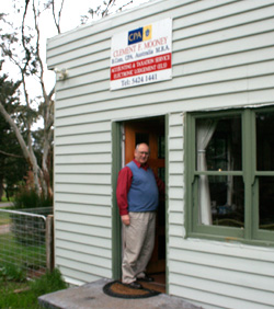 Clem in front of his Trentham office